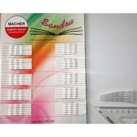 Wsuwki do włosów Sandra - białe SZEROKIE
