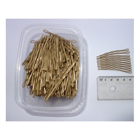 Wsuwki cieniowane złoto-czarne  6cm.