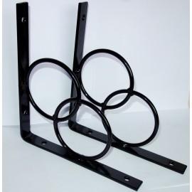Wspornik półki Simple metaloplastyka , kuty 1szt