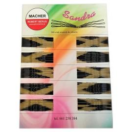 Wsuwki do włosów SANDRA cieniowane z KULKĄ 100szt